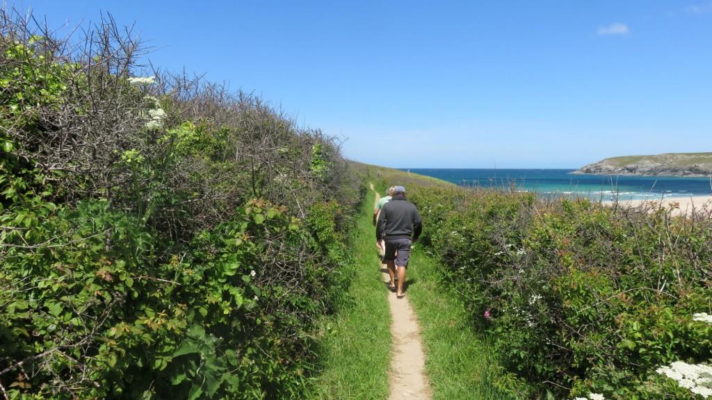 Holywell Bay footpath walk